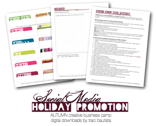 holiday social media promotion pdf workbook by traci bautista