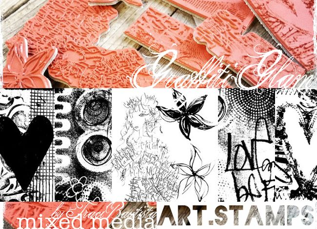 graffiti GLAM art stamps