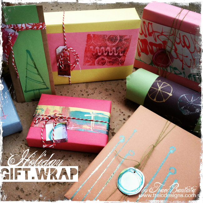 DIY holiday gift wrap by Traci Bautista