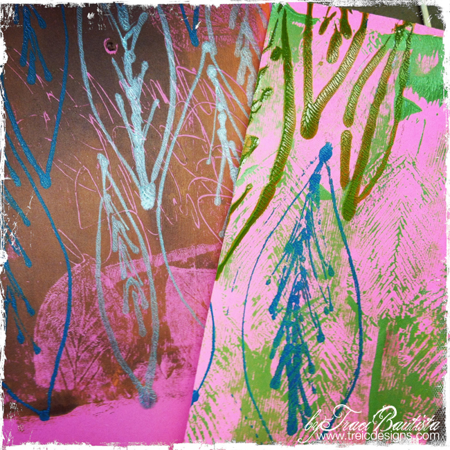 Puffy Paint Printed paper and fabric style reMIX byTraci Bautista