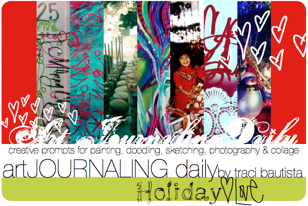 artJOURNALING daily {holiday LOVE}