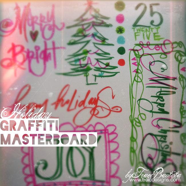 ArtJOURNALINGdailyHOLIDAY_graffiti-MASTERBOARD1_byTraciBautista