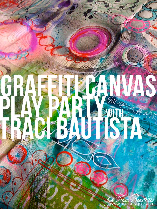Traci_bautista_graffiticanvasPLAYparty at JoAnn Fabrics