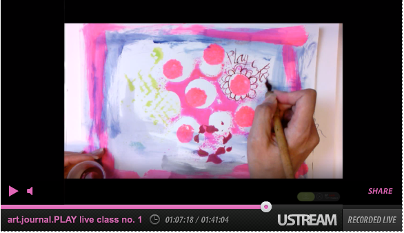 art.journal.PLAY live stream one by traci bautsita