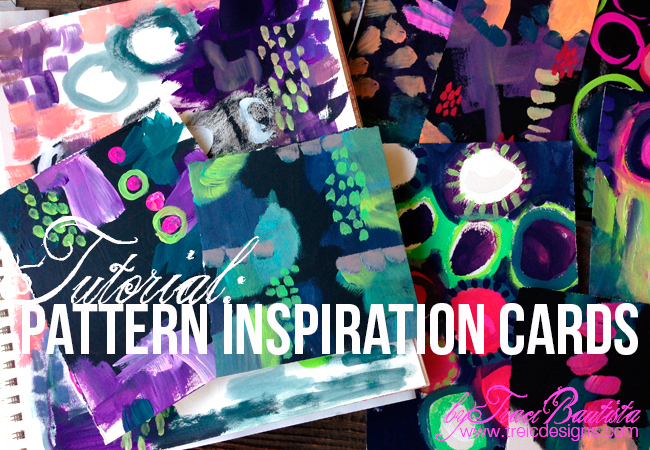 pattern inspiration cards tutorial_byTraciBautista