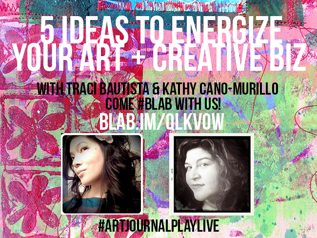 ArtjournalPLAYlive_5ideasTO_energize_your creative biz treiCdesigns_craftychica