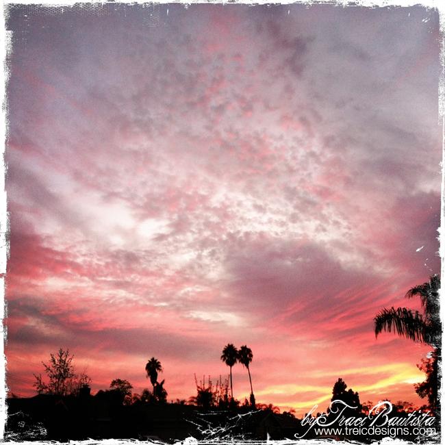 Lisa's house sunset