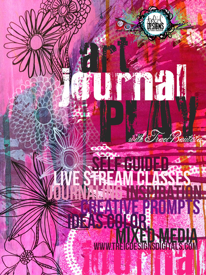 Art journal PLAY2_by traciBautista_selfguided