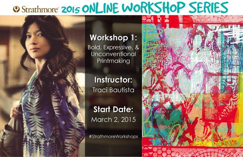 Workshop 1 Traci Bautista Printmaking strathmore2015