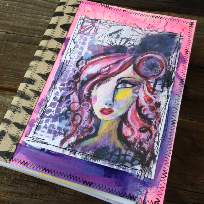 idea art journal hand painted by traci bautista