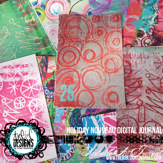 HOLIDAYnouveau_printableartjournal_preview1byTraciBautista-booklet