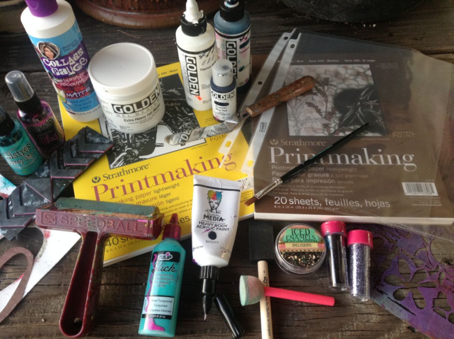 monoprints acrylic skins supplies by traci bautista