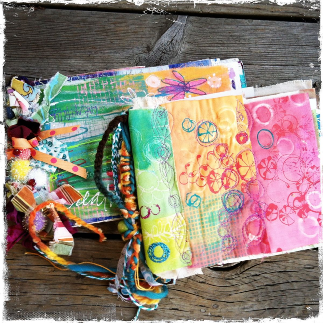 stitched and woven handmade journals by traci bautista